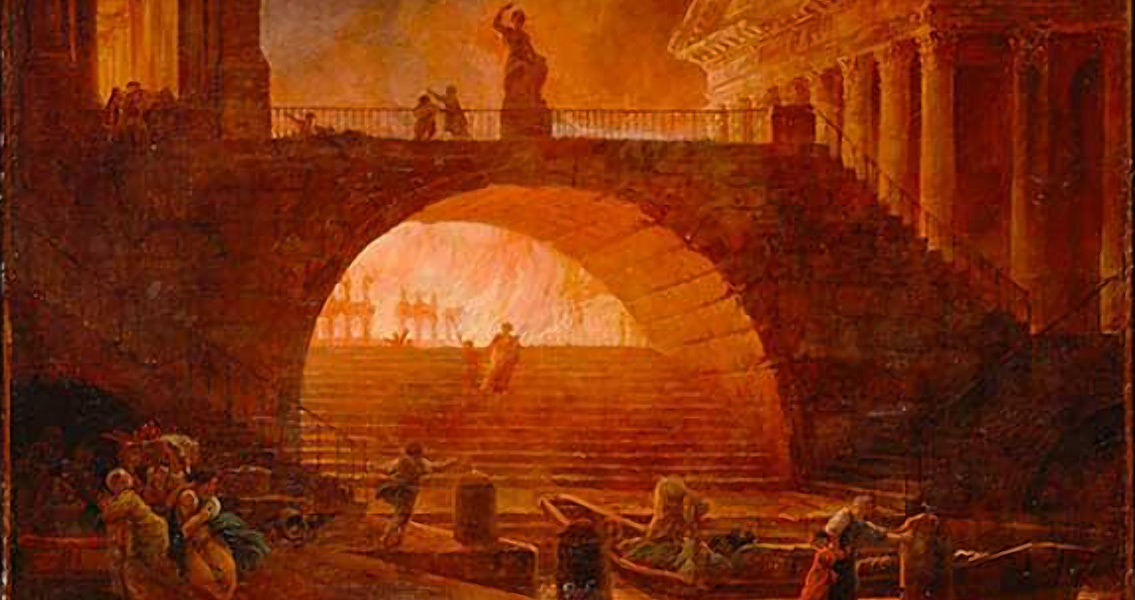 Nero fiddled while rome burned meaning